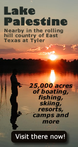 Lake palestine 25 000 acres of boating fishing and for East texas fishing report