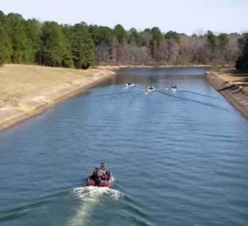 Photo of the canal between the original Lake Tyler and Lake Tyler East