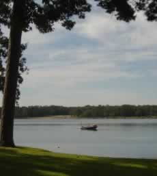 Fishing boat on a quiet day at Lake Tyler!